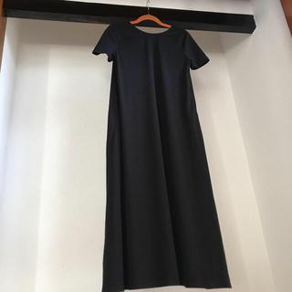 IENA - 新品★ IENA フレアデザイン ロングワンピース 黒