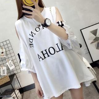 人気♥レディースオフショルTシャツ白(Tシャツ(半袖/袖なし))