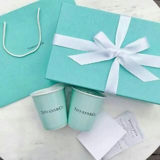 Tiffany & Co. - 紙コップ風 ティファニー コップ 2 個