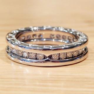 ブルガリ(BVLGARI)の超美品 ブルガリ ビーゼロワン ホワイトゴールド フルダイヤ 6号(リング(指輪))