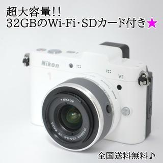Nikon - ☆Wi-Fiでスマホへ☆決定的な瞬間を逃さない♬ニコン 1 V1☆ホワイト