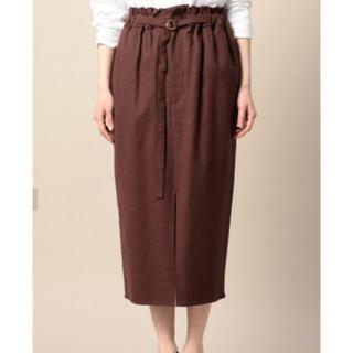 ビューティアンドユースユナイテッドアローズ(BEAUTY&YOUTH UNITED ARROWS)のroku ベルト付きギャザースカート(ひざ丈スカート)