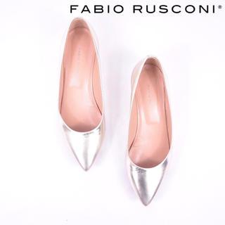 FABIO RUSCONI - Fabio Rusconi ファビオルスコーニ ゴールド フラット パンプス