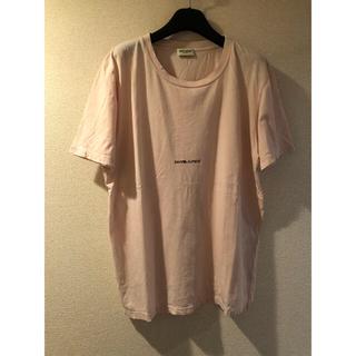 サンローラン(Saint Laurent)のサンローラン スモールロゴ Tシャツ XS ピンク 国内正規品(Tシャツ/カットソー(半袖/袖なし))