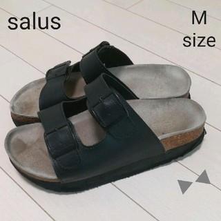 サルース(salus)の【W15】salus 厚底 サンダル ブラック*M* (サンダル)