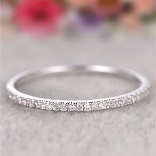 リング 指輪 ハーフエタニティ シルバー ステンレス レディース シンプル(リング(指輪))
