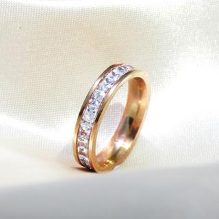 リング 指輪 フルエタニティ ピンクゴールド ステンレス レディース(リング(指輪))