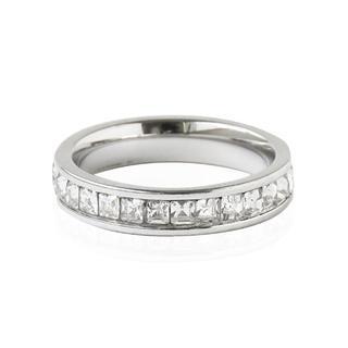 リング 指輪 フルエタニティ シルバー 指輪 ステンレス レディース(リング(指輪))