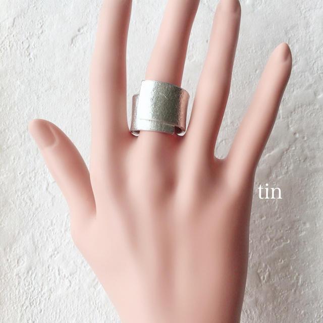 錫(スズ)ロングリング 1.5cm メンズのアクセサリー(リング(指輪))の商品写真