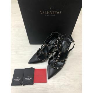 VALENTINO - VALENTINO スタッズ パンプス ブラック