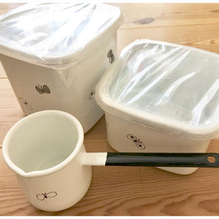 mina perhonen - ミナペルホネン 野田琺瑯 choucho保存容器&バターウォーマー