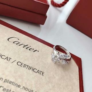 カルティエ(Cartier)のカルティエ リング 葉形 魅力 指輪 Cartier s925 6号 (リング(指輪))
