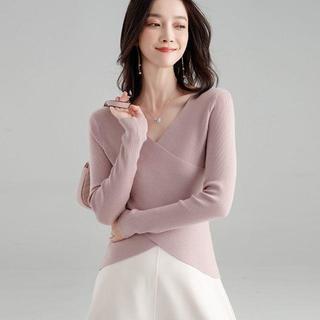 ニットセーター レディース春秋 chic長袖 個性ブラウス新品人気SJ1287(ニット/セーター)