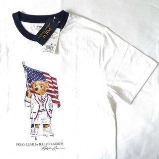 ラルフローレン(Ralph Lauren)のRALPH LAUREN 2019年新作!ポロベア 星条旗 ホワイト Tシャツ (Tシャツ(半袖/袖なし))