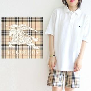 BURBERRY - 【ポルトガル製】90s Burberrys ヴィンテージ ロゴ刺繍 ポロシャツ