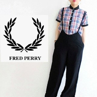 FRED PERRY - 【日本製】FRED PERRY ゆるサイズ ボタン チェックシャツ ポロシャツ