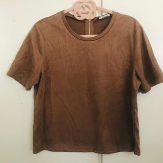 ザラ(ZARA)のZARA☆フェイクスウェードTシャツ(Tシャツ(半袖/袖なし))