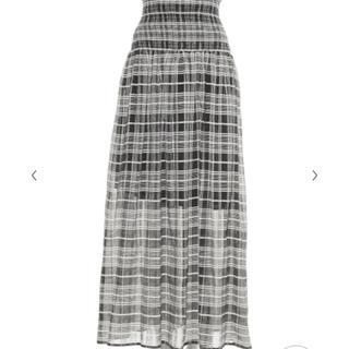 フレイアイディー(FRAY I.D)の新品タグ付き フレイアイディー シャーリングレースアップスカート(ロングスカート)