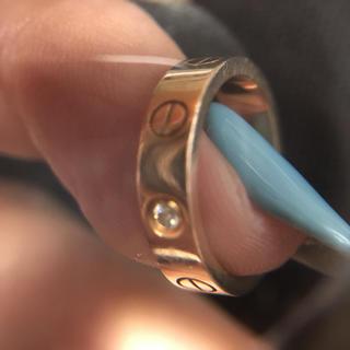 カルティエ(Cartier)のカルティエラブリング  ピンクゴールド 1pダイヤ入り(リング(指輪))