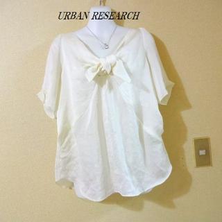 アーバンリサーチ(URBAN RESEARCH)のURBAN RESEARCHアーバンリサーチ♡リボンシフォンカットソー(シャツ/ブラウス(半袖/袖なし))