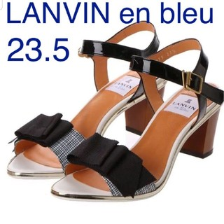 LANVIN en Bleu - LANVIN en bleu 【美品】リボン サンダル 23.5 ストラップサン