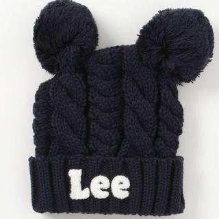 リー(Lee)の新品 Lee リー 耳付き ケーブルニット帽 ニット帽 帽子 ベビー(帽子)