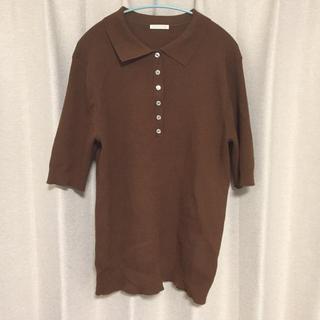 ジーユー(GU)のニットポロ(ポロシャツ)