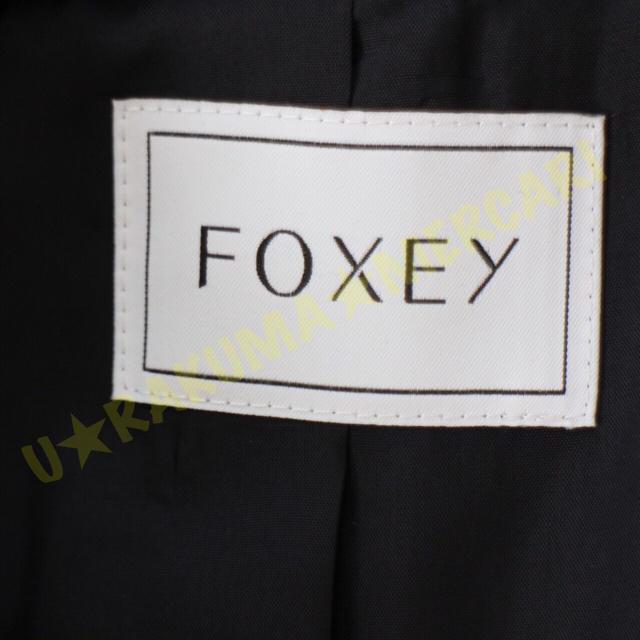 FOXEY(フォクシー)のFOXEY★美品★ツイードジャケット★ネイビー×ホワイト★38 レディースのジャケット/アウター(テーラードジャケット)の商品写真
