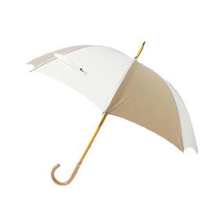 グレースコンチネンタル(GRACE CONTINENTAL)のグレースコンチネンタル 配色パイピング日傘 ベージュ ホワイト(傘)