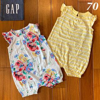babyGAP - 新作新品☆babygap☆ショートオールセット☆70㎝