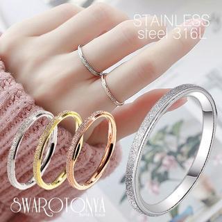 スパークリング ステンレス リング /ゴールド 9号 指輪(リング(指輪))