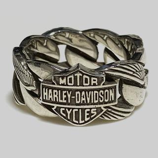 ハーレーダビッドソン(Harley Davidson)のハーレーダビッドソン シルバー925 リング バー&シールド 27号位(リング(指輪))