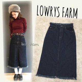 LOWRYS FARM - LOWRYS FARM♡デニムフリンジナロースカート