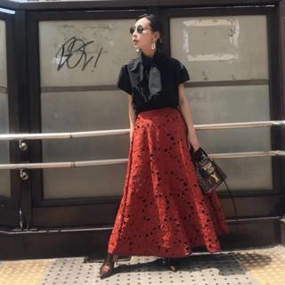 アメリヴィンテージ(Ameri VINTAGE)のアメリヴィンテージ    カットワーク フレアースカート(ロングスカート)