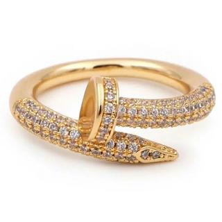 釘リング gold plating cz diamond ring(リング(指輪))