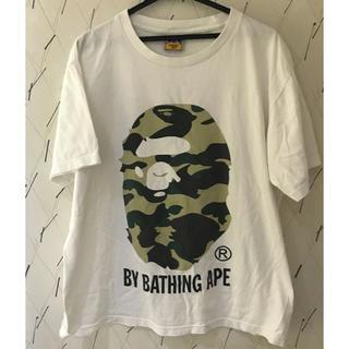 A BATHING APE - アベイシングエイプ 迷彩 大猿 Tシャツ Lサイズ