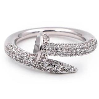 釘リング silver plating cz diamond ring(リング(指輪))
