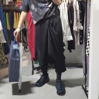 Yohji Yamamoto - ドレープ サルエルパンツ レース付き