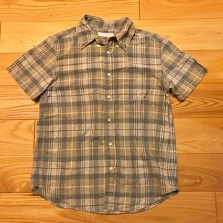 キューブシュガー(CUBE SUGAR)のCUBU SUGAR チェック柄シャツ(シャツ/ブラウス(半袖/袖なし))