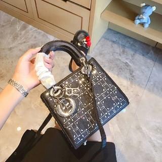 ディオール(Dior)のディオールの新型スワロストーンのシルクバッグ(ハンドバッグ)