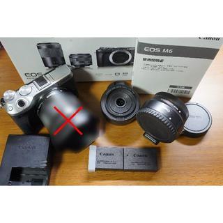 Canon - 【美品】EOS M6シルバー、EF-M 22mmF2ブラック、マウントアダプター