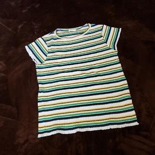 GU - 美品 GU 子供 女の子 マルチボーダー Tシャツ 150cm