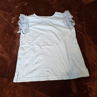 GU - 美品 GU 子供 女の子 フリル袖デザイン Tシャツ 150cm