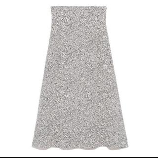 フレイアイディー(FRAY I.D)のタグ付♡アニマルドットプリントスカート(ロングスカート)