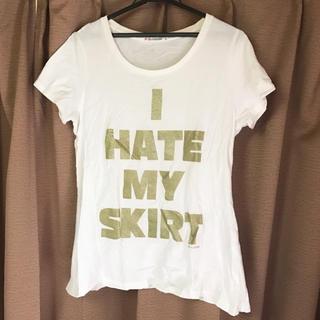 ユニクロ(UNIQLO)のユニクロ UT ロゴTシャツ ホワイト  Lサイズ 白(Tシャツ(半袖/袖なし))
