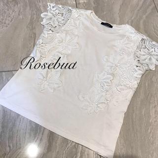 ローズバッド(ROSE BUD)のROSEBUDレースプルオーバー(シャツ/ブラウス(半袖/袖なし))