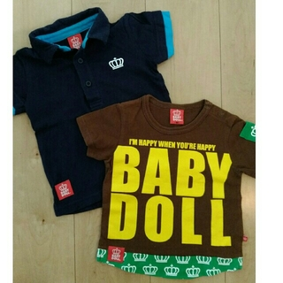 BABYDOLL - ⭐BABY DOLL⭐とってもかっこいいポロシャツ&重ね着風Tシャツセット90