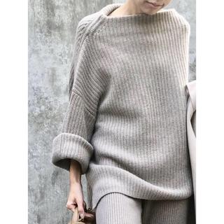 L'Appartement DEUXIEME CLASSE - 美品☆アパルトモン☆ ボートネックアゼKNIT /ベージュ