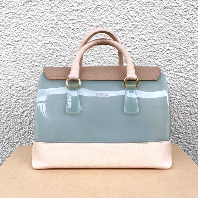 Furla(フルラ)のキャンディ完売バッグ限定バッグ正規品ライトブルー大サイズ レディースのバッグ(ハンドバッグ)の商品写真