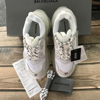 Balenciaga -  BALENCIAGA バレンシアガ トリプルエス クリアソール ホワイト
